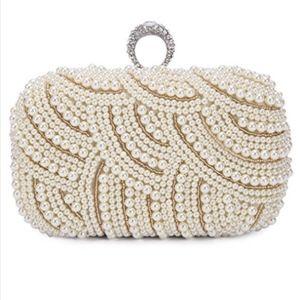 Beaded formal clutch purse NWT
